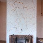 fireplace in craquelure