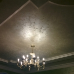 decorative sand on the ceiling